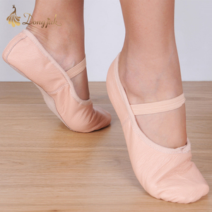 Image 3 - Canvas Flat Slippers White Pink White Black salsa Ballet Shoes For Girls Children Woman Yoga Gym According The CM To Buy