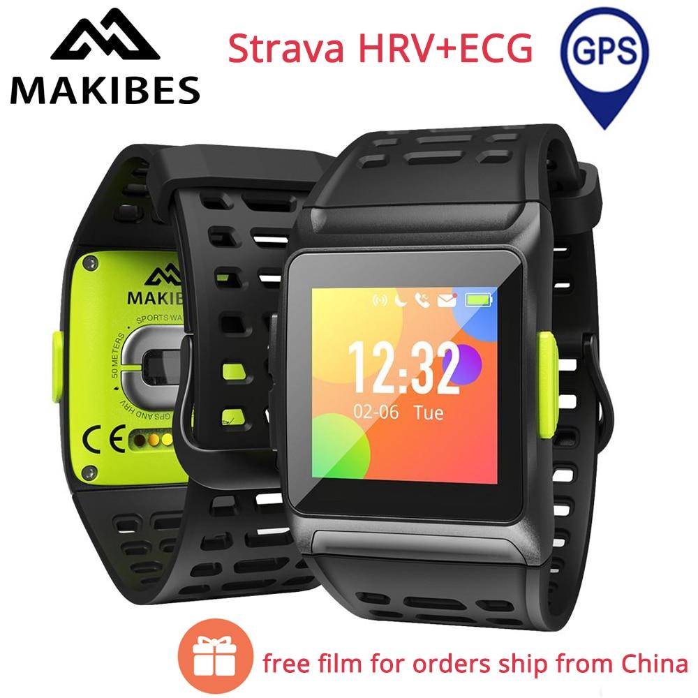 Free Film Makibes BR1 GPS Smart Watch Strava HRV ECG Bluetooth 17 Kinds Sports Fitness Watch