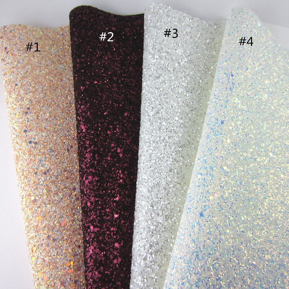 1Yard Soft Chunky Shiny 3D Mix White Glitter Fabric Elastic Fabric For Project DIY Craft Y003