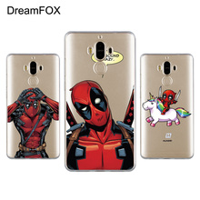 Фотография DREAMFOX L031 Deadpool Soft TPU Silicone  Case Cover For Huawei Mate G 7 8 9 10 Nova 2 Lite Pro Plus
