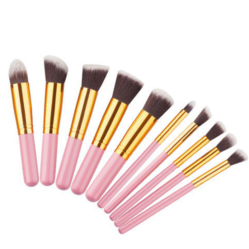 10pcs Natural Hair Eye Makeup Brushes Set Professional Eyeshadow Shadow Brushes Makeup Tool Shader Blending Make Up Brushes Set 11