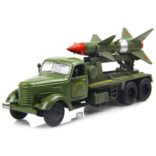 Military vehicles toys Old liberated missile truck model car ran from the military model alloy car