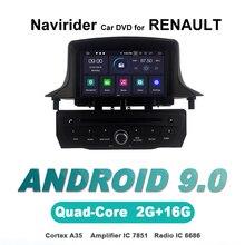 Сенсорный экран OTOJETA Android 9,0 автомобильный dvd-плеер для Renault Megane III/Fluence 2009-2011 HU автомобильные аксессуары gps Мультимедиа Радио