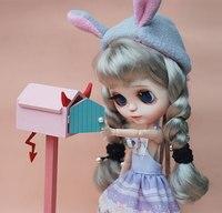 G05 X5159 children baby gift Toy 1:6 Dollhouse mini Furniture Miniature rement bjd Photo props wooden cartoon mailbox 1pcs