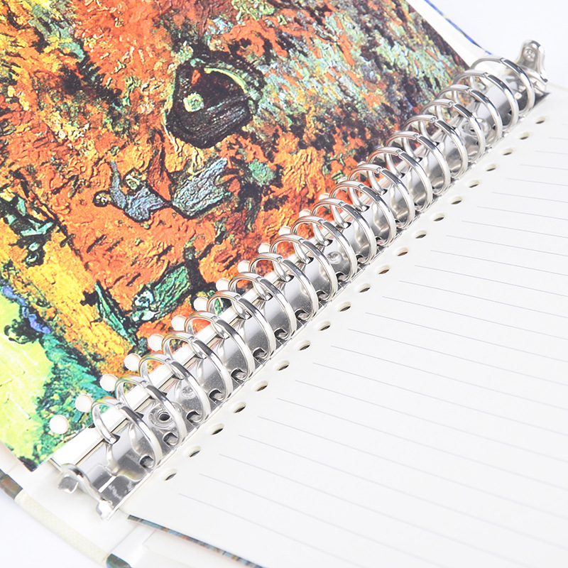 Image 5 - A5 Van Gogh Notebook Planner School Office Stationery Creative Spiral Journal Notebook Thick Notebook Diary Book Bullet Journal-in Notebooks from Office & School Supplies