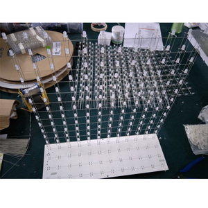Image 4 - 3D12 RGB121212 Full Color Kubieke Led Cubic Diy Kit Halffabrikaten Zonder Shell 12*12*12 Glazen Gratis 3D