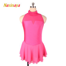 Nasinaya Figure Skating Dress Customized Competition Ice Skating Skirt for Girl Women Kids Patinaje Gymnastics Performance 178(China)
