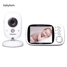 Babykam 3.2 inch LCD baba electronics video nanny baby monitor with IR Night vision baby intercom Lullabies Temperature monitor