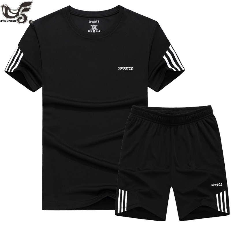 Talla grande 7XL 8XL 9XL verano nuevos pantalones cortos de hombre traje Casual ropa deportiva chándal hombres conjuntos Pantalones Hombre sudadera hombres ropa de marca