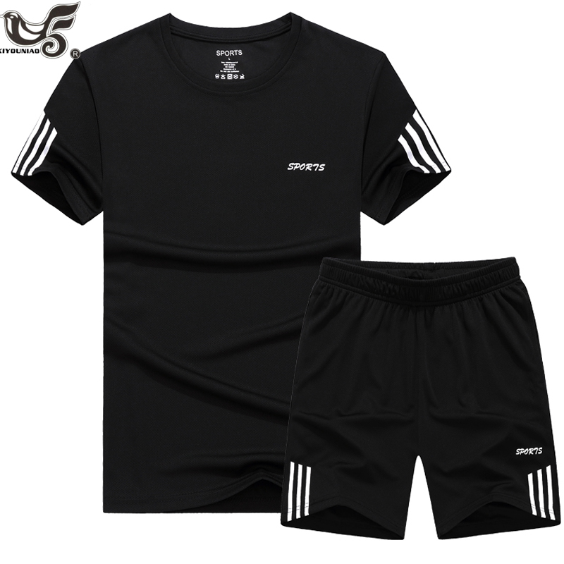 Plus Size 7XL 8XL 9XL Summer New Men's Shorts Casual Suit Sportswear Tracksuit Men Sets Pants Male Sweatshirt Men Brand Clothing