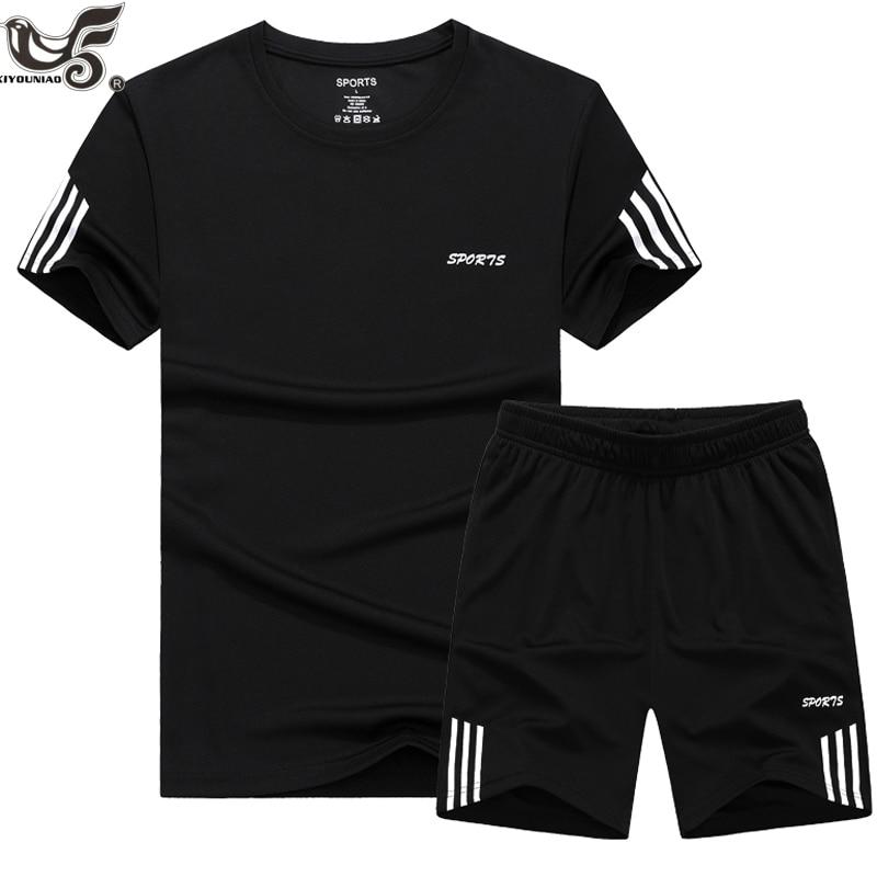 Plus Size 7XL 8XL 9XL Summer New Men's Shorts Casual Suit Sportswear Tracksuit Men Sets Pants Male Sweatshirt Men Brand Clothing