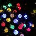 Iluminación al aire libre 30 LED de la Secuencia Solar Luces de Hadas de la Bola de Cristal Globo de La Lámpara de la Energía Solar Para Jardín Luz de La Decoración de Navidad