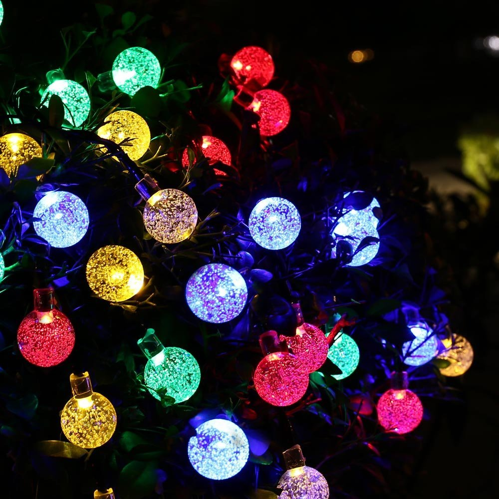 Outdoor Lighting 30 LED Solar String Fairy Lights Solar Power Crystal Ball Globe  Lamp For Garden