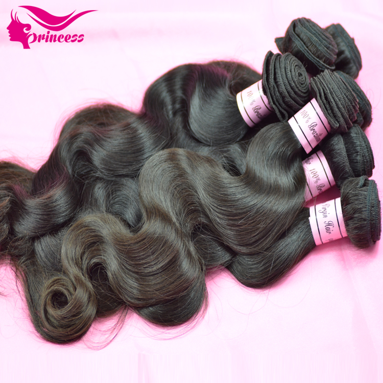 ,brazil hair extension,Body Wave,virgin brazilian weft,12 inch-30 inch,remy weave, black(95-100g/pc) - Princess products co.,LTD store