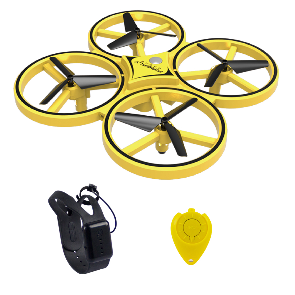 KF04 Interactive induction RC quadcopter intelligent watch remote control manual control LED light drone gravity sensor