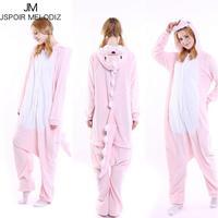 2017 Unisex Adult Winter Unicorn Pajamas Animal Pajama Sets Sexy Hooded Flannel Homewear Sleepwear Female Cute