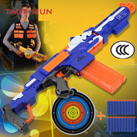 TAORISFUN Soft Bullet Toy Gun Sniper Rifle Plastic Gun & 20 Bullets 1 Target Electric Gun Toy Christmas Birthday Gift Toy