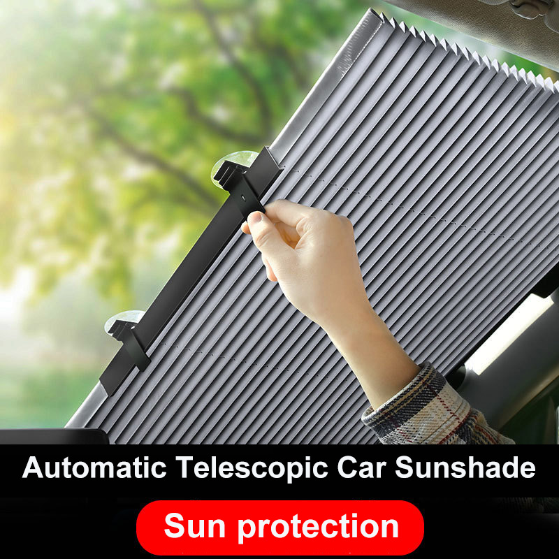 Universal Automatic Telescopic Car Window Sunshade Parasol Coche Sun Visor Windshield Sunshade Cover Front Rear UV Protector