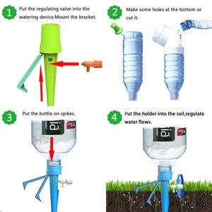 Image 4 - 40Pcs Auto Drip Irrigatie Watering Systeem Automatische Watering Spike Voor Planten Bloem Indoor Huishoudelijke Waterers Fles