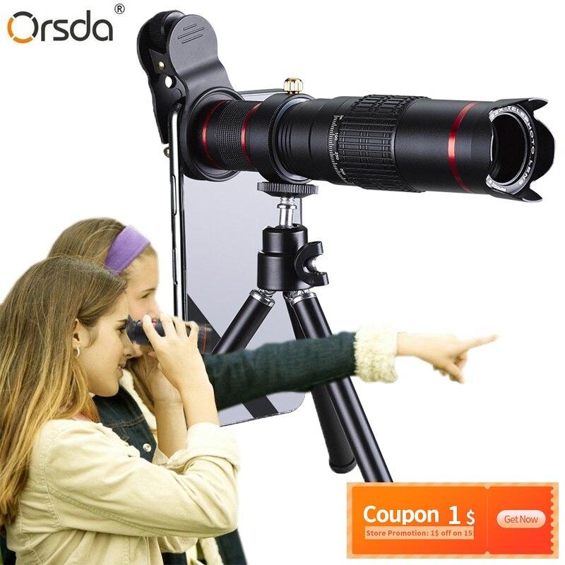 Orsda HD 4K Lente 22x Lente Super Zoom Telescópio Do Telefone Móvel para Smartphones Lente Super Zoom Teleobjetiva para iPhone câmera