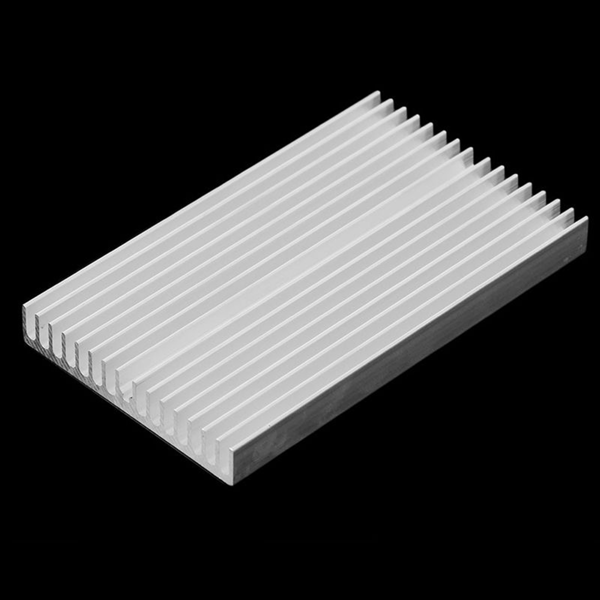 DWZ 100*60*10mm Aluminum Radiator Cooler Heatsink Chip for LED IC Power Transistors 50pcs 8 8x8 8x5mm aluminum heatsink radiator cooling cooler for electronic chip ic ram led with thermal conductive tape