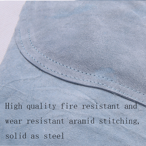Image 3 - Electric Welding Cowhide Protective Clothing High Temperature Leather Welding Pants Anti flame proof Safety Welding Overalls