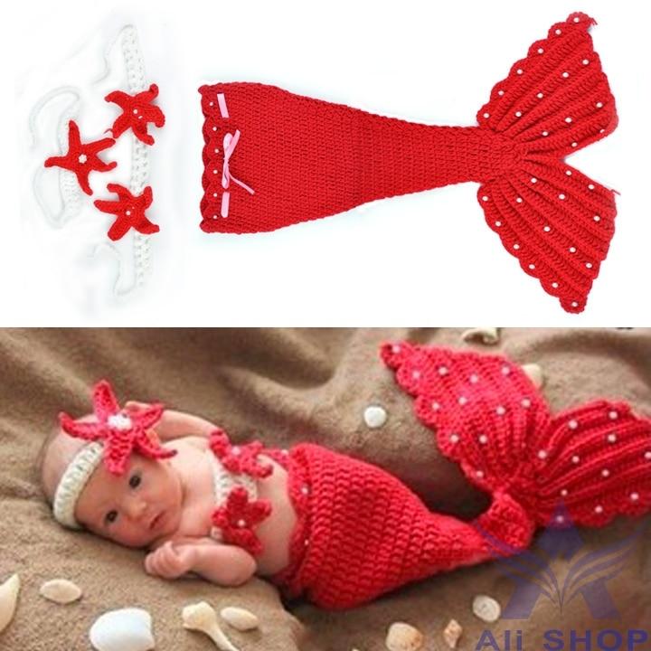 New Born Cute Animal Mermaid Design Infant Baby Crochet