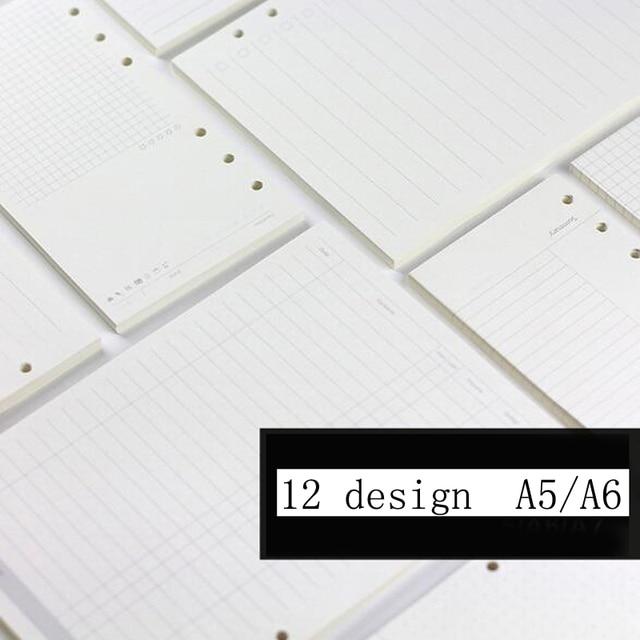 A5/A6 спираль наполнитель для ноутбука Бумага для Filofax Diario планировщик внутренних страницах Замена офисные аксессуары связующего забронировать Бумага
