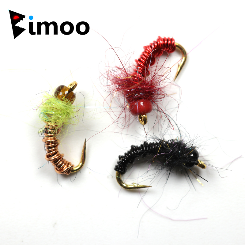 Trout // Grayling Flies 3 Bead Headed Red Copper John Nymphs