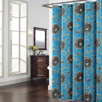 Cypress niebieski zasłona prysznicowa, szary, rośliny prysznic zasłony do łazienki, kwiatowy zasłony łazienkowe, druku wodoodporny prysznic kurtyny