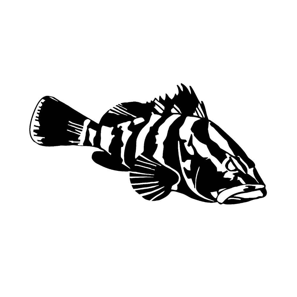 Nassau Grouper Fish Vinyl Car Decal Creative Rear Windshield Decor Stickers Waterproof Car Styling Art Decal L188