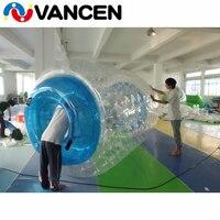 Летние игры воды надувных шарика 100% ТПУ ходьбы по воде rolling Бурлящий шарик пользовательские надувные воды Гуляя