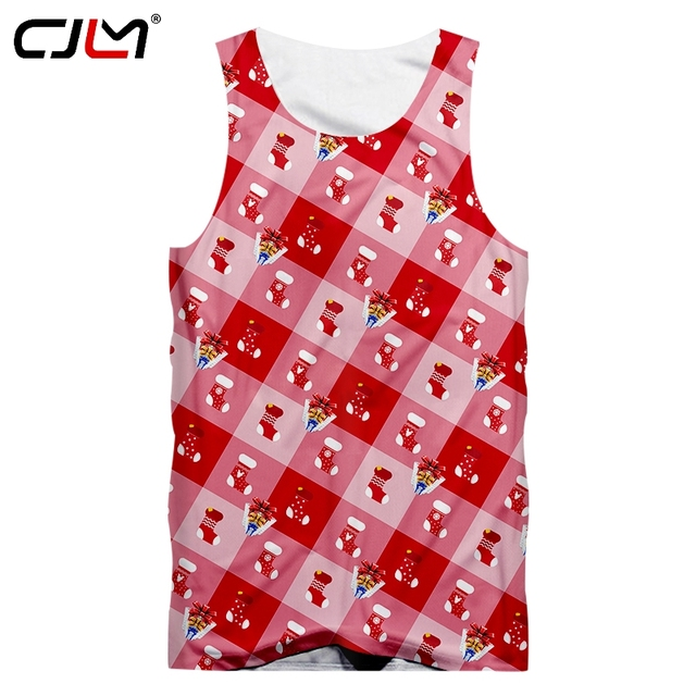 814526662891b CJLM New Recommend Men s Christmas Tank Top 3D Printed Stockings And Gift  Boxes Lovers TankTop Oversizend 5XL