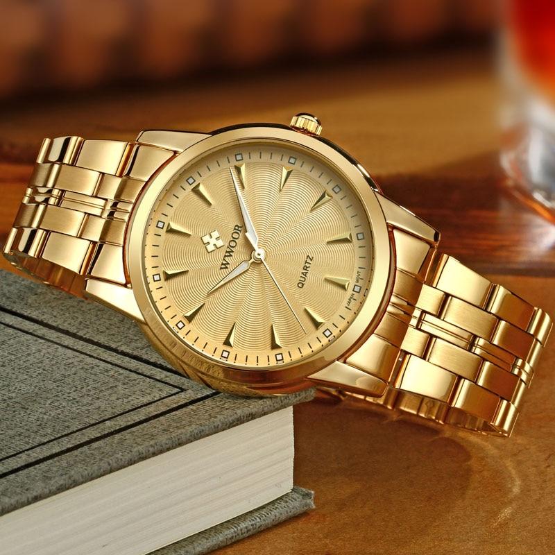 Top brändi luksus meeste veekindel roostevabast terasest kuld kellad - Meeste käekellad - Foto 4