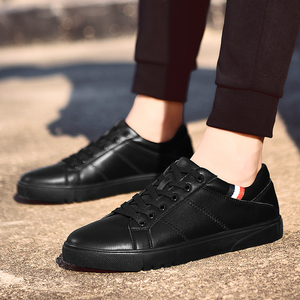 Image 4 - SUROM 2019 אביב חדש גברים נעליים יומיומיות לנשימה ללבוש עמיד נעלי נוח קיץ לבן עגול הבוהן תחרה עד שטוח Snekaers
