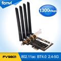 Fenvi FV9801 Desktop PC 802.11AC Wi-fi 1750 Mbps Gigabit Ethernet PCI-E PCi Express WiFi + Bluetooth 4.0 + 4 * Adaptador 6DBi Antenas