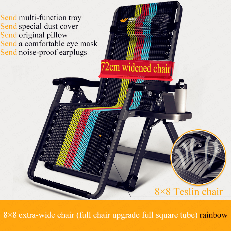 Portable Gravity Folding Lounge Beach Chairs Outdoor Camping Recliner Tray