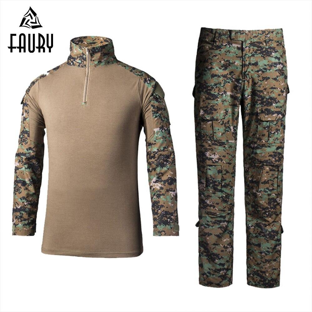 Uniforme militaire tactique de l'armée américaine chemise de Combat Airsoft pantalon militaire Uniforme militaire Multicam Camouglage ensemble vêtements de chasse