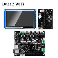 Дуэт 2 Wi Fi материнской клонировано Reprap прошивки мощный 32 битный Duet2 доска + 4,3 Панель Сенсорный экран контроллер 3D принтеры Запчасти