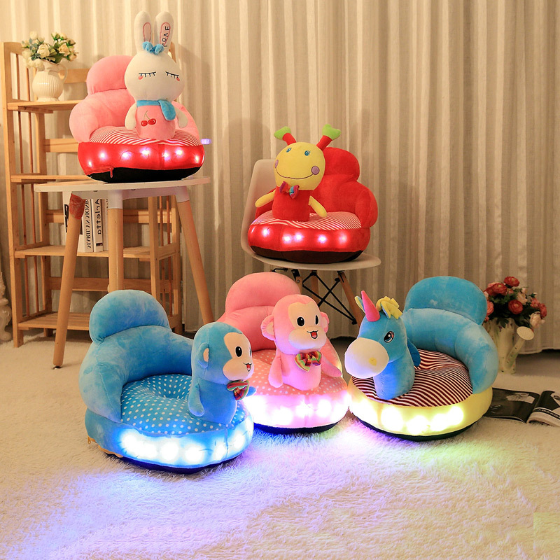 Shine Sing Sofa The Baby Learns To Sit In The Dining Chair Small Sofa Seat For Children Cartoon Baby Sofa Trilateral Washable