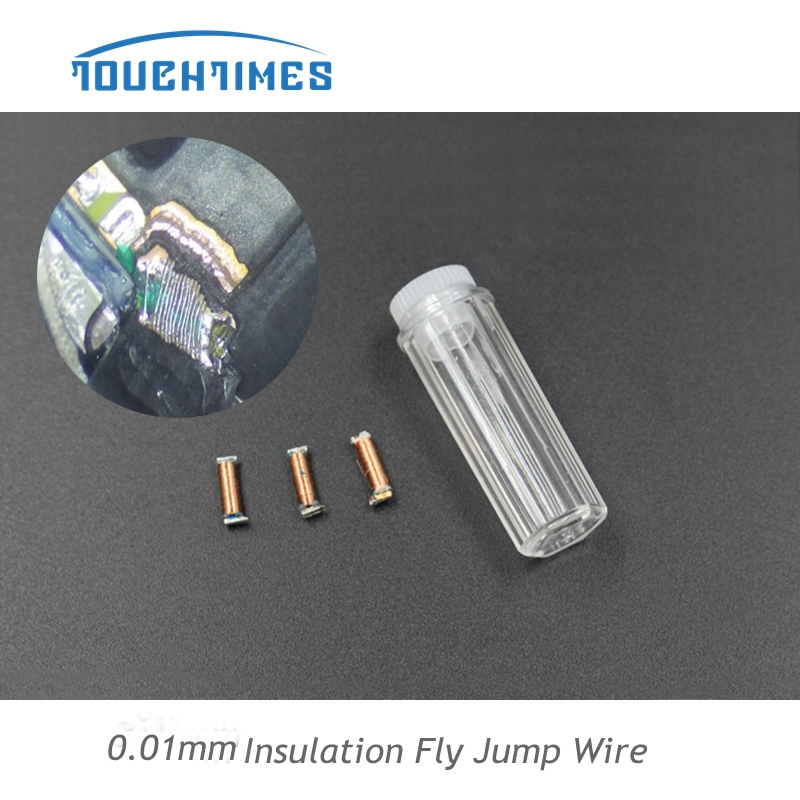 Mechanic 0.02mm Fly Line Jump Wire Welding Tips Tools 2pcs 99.9% Copper Iron Head For Iphone Motherboard Fingerprint Sensor Chip Reparation Suit