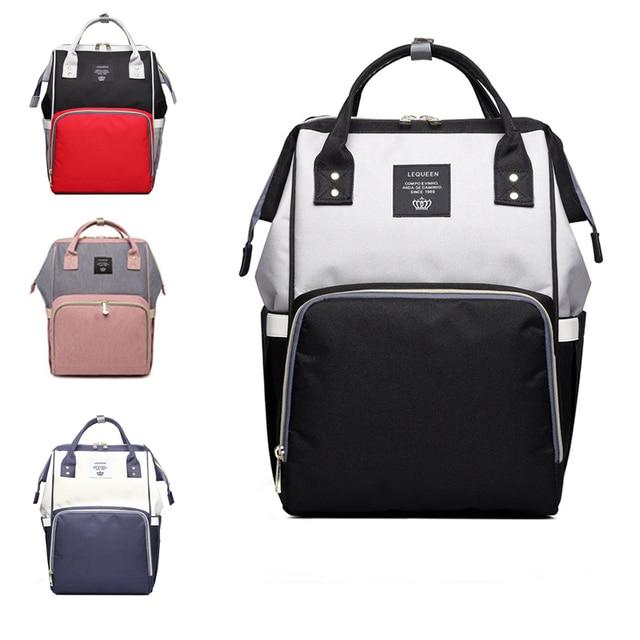 b258de8e7d 2019 Fashion Maternity Bag Mummy Nappy Bags Brand Large Capacity Baby Bag  Travel Backpack Design Nursing