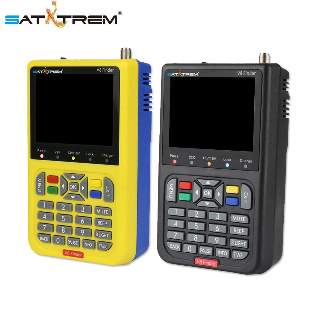 Satxtrem V8 Finder Satellite Finder DVB-S2 Receiver Digital Signal Meter HD TV Antenna Outdoor Signal Detector Adjust Sat Dish