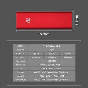 Image 4 - وحدة تخزين محمولة THU SSD 128g 256g 512g 1 تيرا بايت محرك أقراص خارجي متين USB3.0 400 برميل/الثانية ضمان 3 سنوات لأجهزة الكمبيوتر المحمول والكمبيوتر المحمول