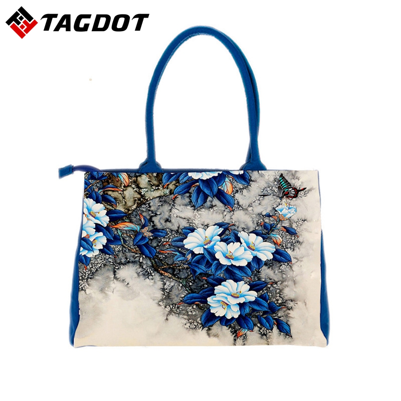 2017 Floral Printed Canvas Tote Female Shopping Bags Large Capacity Women Canvas Beach Bags Casual Tote Feminina Hnadbags Ladies forudesigns floral printed shoulder bags women large capacity female shopping bag summer ladies beach handbag blosas feminina