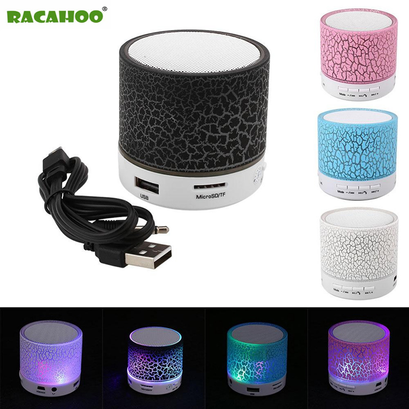 RACAHOO LED Portable Mini Bluetooth Speakers Wireless Hands Free Speaker With TF Mic Blutooth Music For Xiaomi iPhone phone