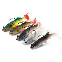 t tail fishing bait 8-9cm14g Bionic False double hook Package lead lure