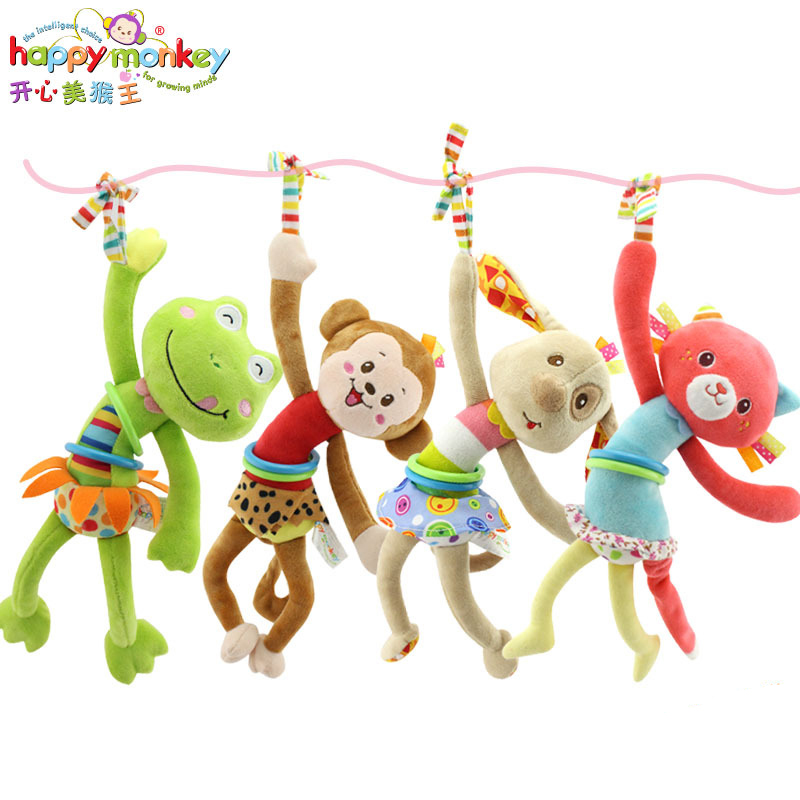Baby Toys 0-12 Month Infant Soft Cartoon Animal Bed Stroller Hanging Rattles Mobile Educational Game Doll For Newborn Babies Kid baby rattles bell toys mobile soft cartoon plush animal clip rattles crib bed stroller hanging dolls toys for newborn baby