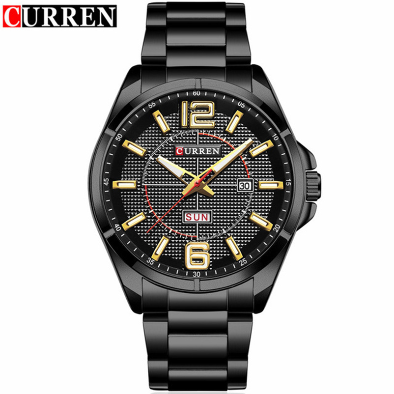 Mens Watches Top Brand Luxury Quartz Watch Curren Men Wristwatch Fashion Casual Sport Clock Relogio Masculino 8271 Drop Shipping hongc watch men quartz mens watches top brand luxury casual sports wristwatch leather strap male clock men relogio masculino