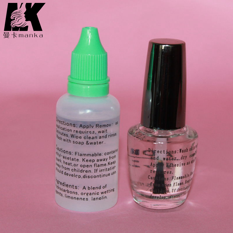 Waterproof professional hair glue adhesive for lace wig adhensive glue 15ML with glue remover 30Ml